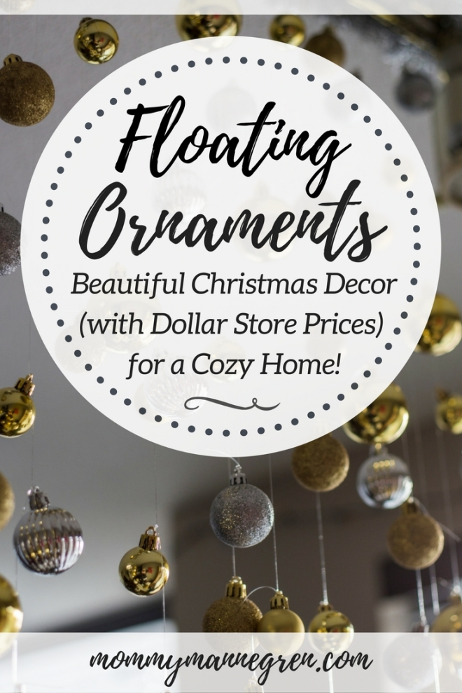 DIY Floating Christmas Ornaments