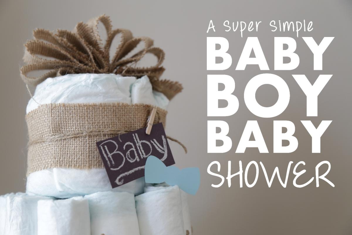 Baby Boy Baby Shower Mommy Mannegren