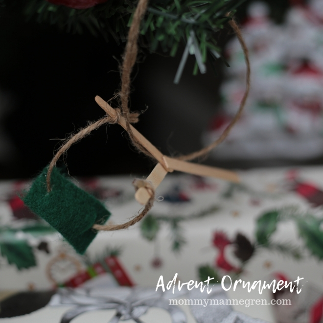 Advent Ornament: David and Goliath Slingshot