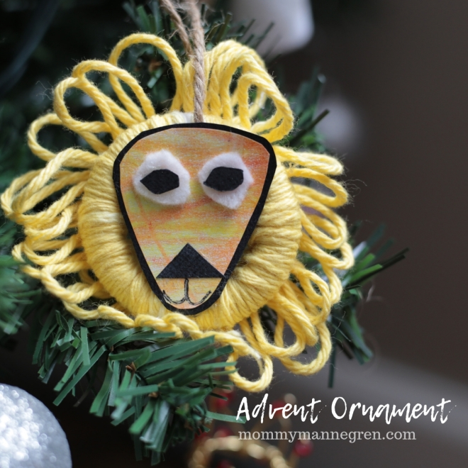 Advent Ornament: Daniel and the Lions Den